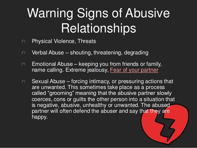 Signs of a verbally abusive man