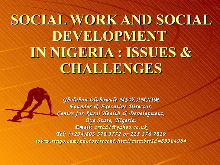 Contemporary social problems in Nigeria