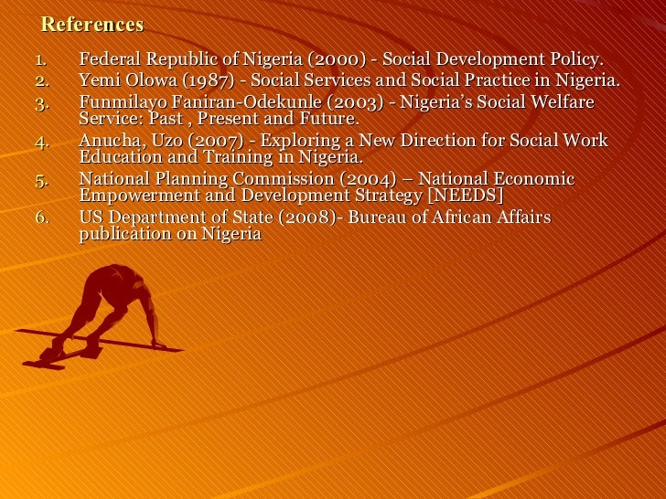 Social Work And Social Development In Nigeria