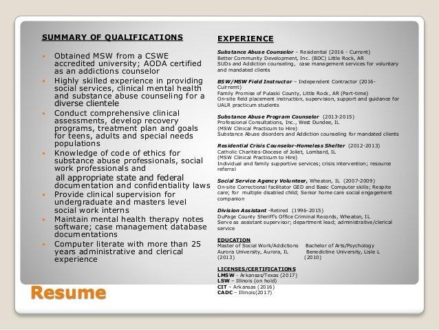 Social Work Career Portfolio