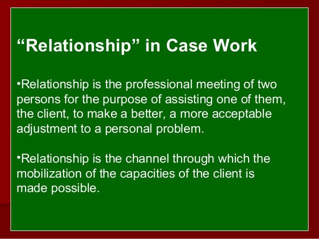 helping relationship social work