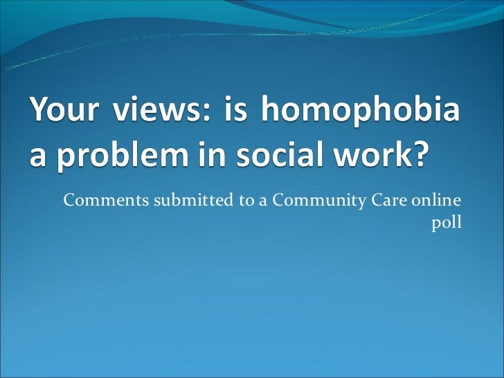 Comments submitted to a Community Care online                                         poll