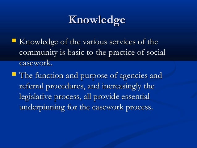 Individual uniqueness and social work