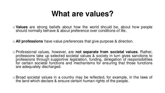 Social work values & ethics