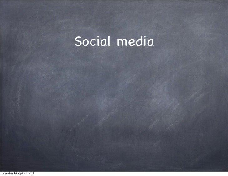 Social mediamaandag 10 september 12