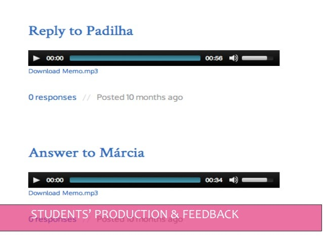 VIDEO - STUDENTS' PRODUCTION & FEEDBACK