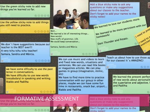 FORMATIVE ASSESSMENT & FEEDBACK