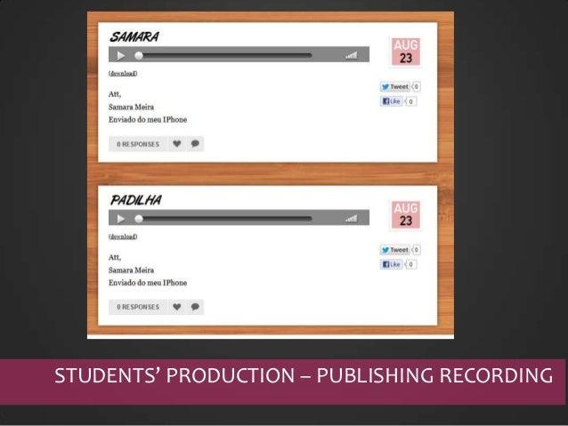 STUDENTS' PRODUCTION & FEEDBACK