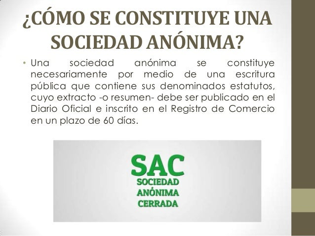 Cotización de inscripción de sociedad anónima
