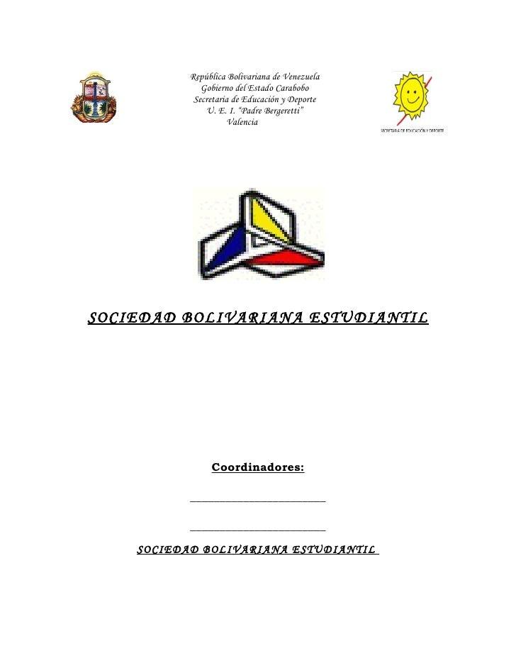 República Bolivariana de Venezuela               Gobierno del Estado Carabobo             Secretaria de Educación y Deport...