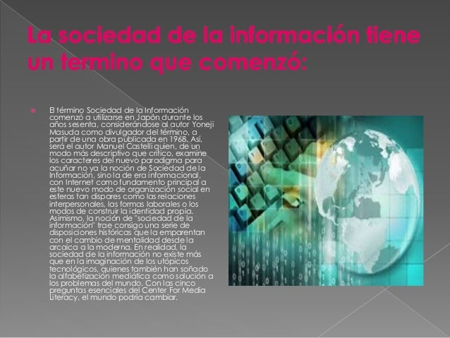 Sociedad de la informacion diapositiva Slide 3