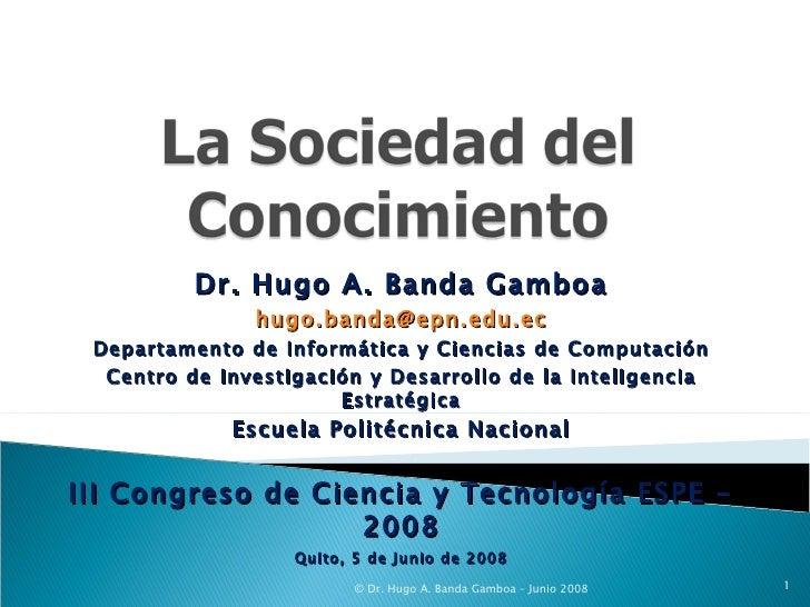 Dr. Hugo A. Banda Gamboa [email_address] Departamento de Informática y Ciencias de Computación Centro de Investigación y D...