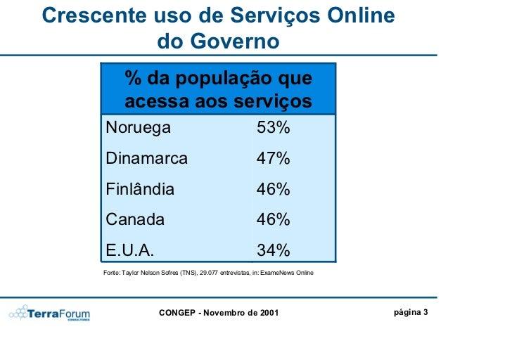Sociedade do Conhecimento e Governo Eletrônico no Canadá Slide 3