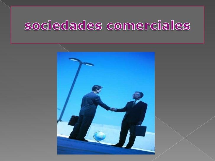 sociedades comerciales<br />