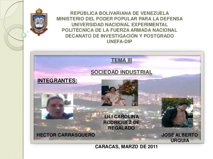 REPÚBLICA BOLIVARIANA DE VENEZUELA      MINISTERIO DEL PODER POPULAR PARA LA DEFENSA            UNIVERSIDAD NACIONAL EXPER...
