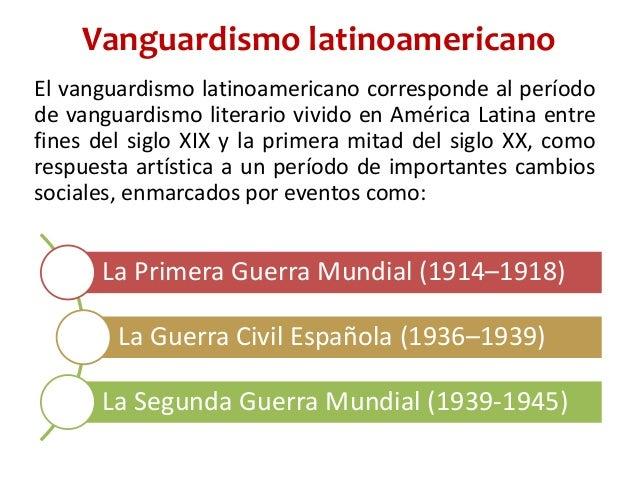 Sociedad pensamiento y cultura en am rica latina o for Como surgio la vanguardia