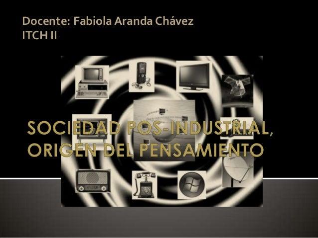 Docente: Fabiola Aranda ChávezITCH II