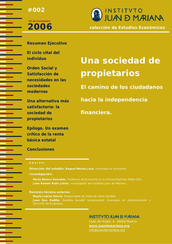 #002 16 de noviembre   2006                                        colección de Estudios Económicos   Resumen Ejecutivo  E...