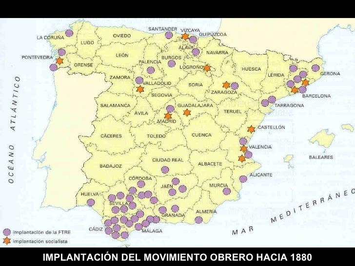 IMPLANTACIÓN DEL MOVIMIENTO OBRERO HACIA 1880