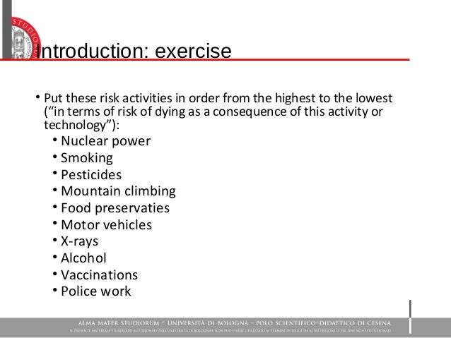 Societal Perception Of Chemical Risk