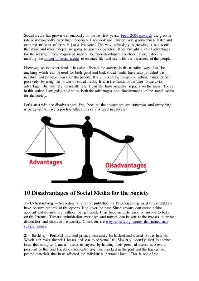 10 Advantages and Disadvantages of Social Media for Society