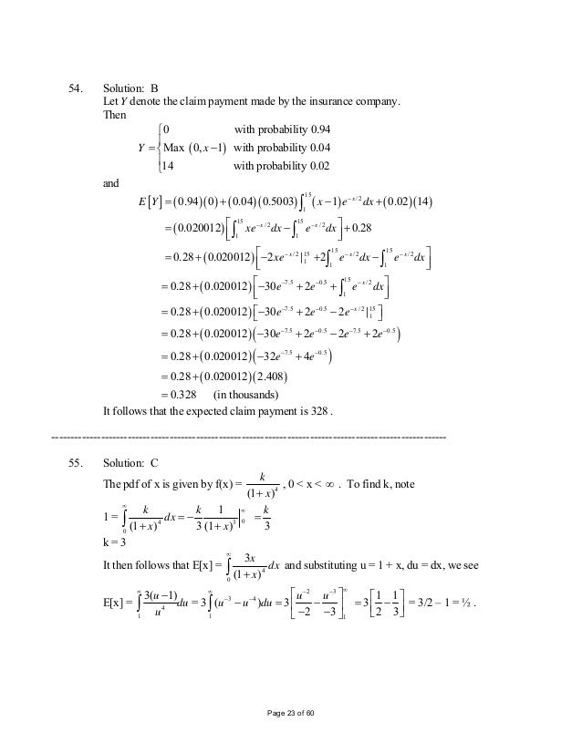 Lecture Notes in Actuarial Mathematics A Probability ...