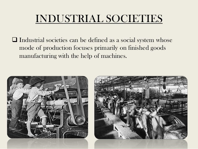 Post industrial society characterisation