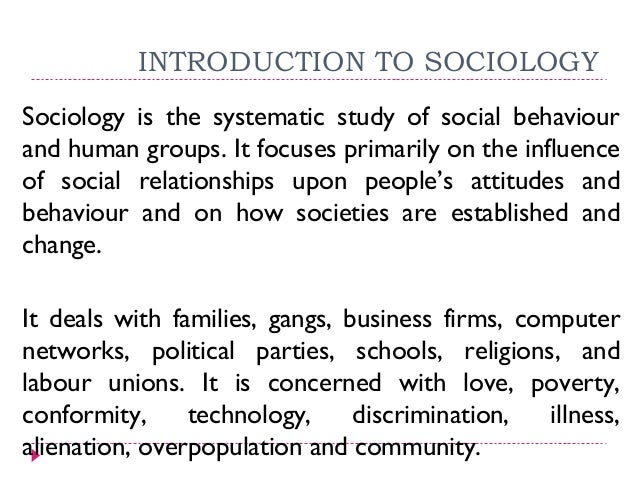 Family and society essay