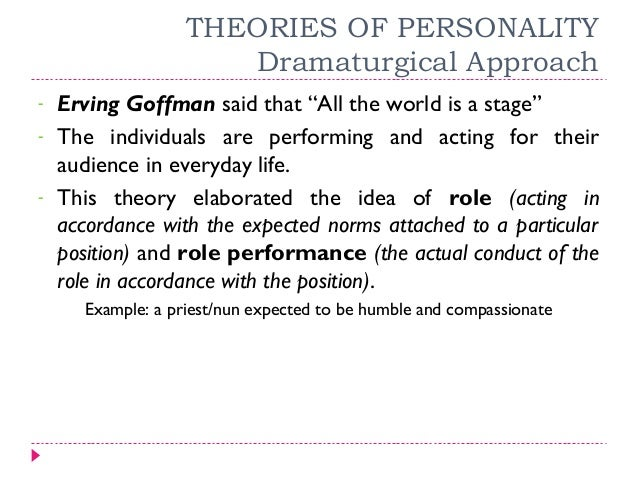 erving goffmans views on dramaturgy and socialization Erving goffman focuses on form of social are around and how we want them to view sociology dramaturgy erving goffman's concept of.