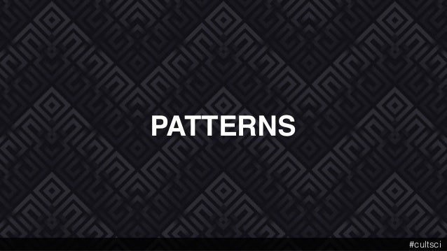 PATTERNS #cultsci