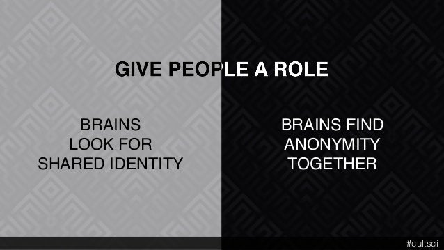 """BRAINS FIND  ANONYMITY"""" TOGETHER BRAINS  LOOK FOR SHARED IDENTITY #cultsci"""