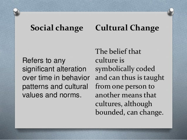 definition of social change in sociology pdf