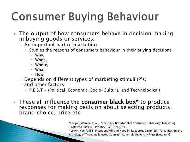 CONSUMER PSYCHOLOGY AND BUYING BEHAVIOR - Research Paper Example