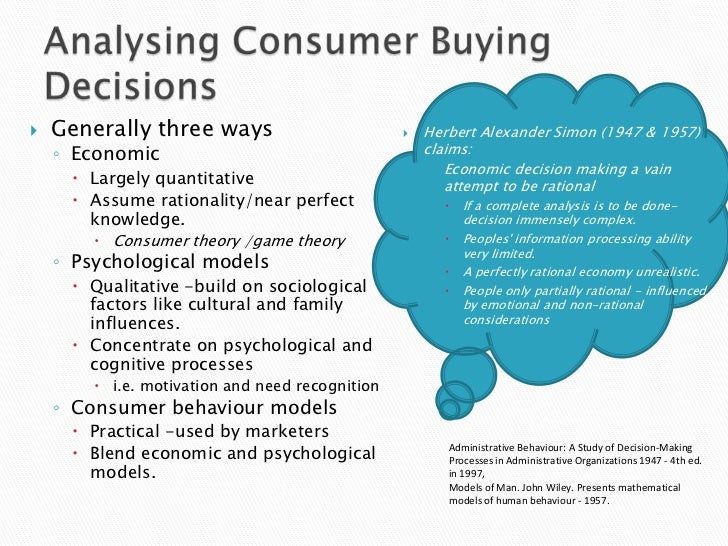 consumer decision process essay The fourth element of the consumer decision-making process is the purchase decision the purchase decision is typically made on the basis of the analysis of alternatives, but can be altered at the last minute by surprise new information.