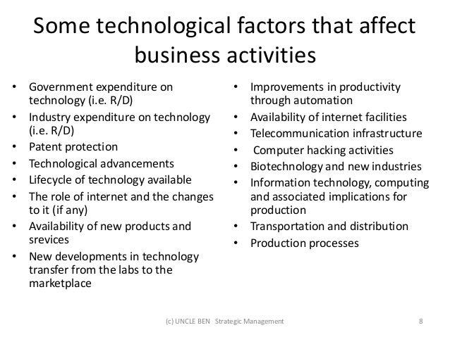 Environmental factors affect businesses