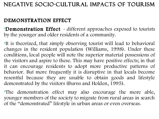 negative socio cultural impact of tourism in india An analysis of socio-cultural impacts of ecotourism in kodagu district  socio-cultural impacts of tourism are difficult to assess  projected negative socio.