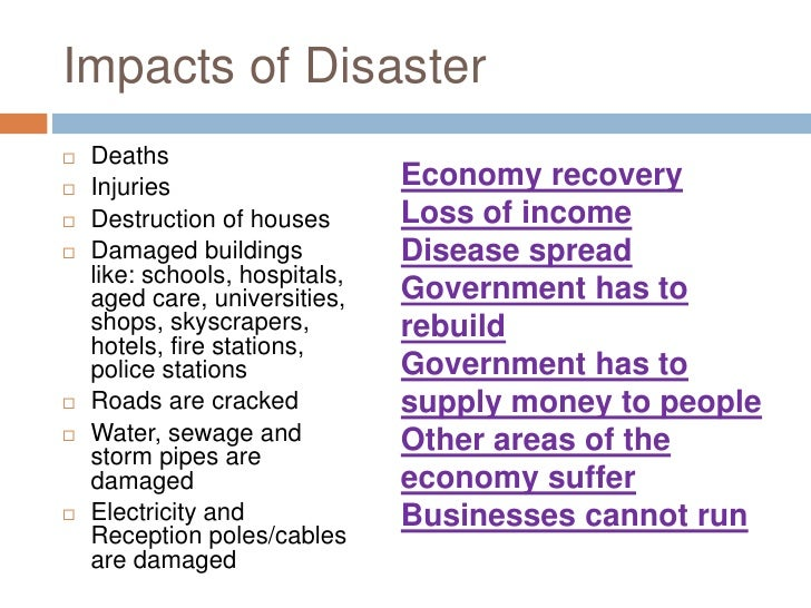 Natural Disaster Impacts On Government