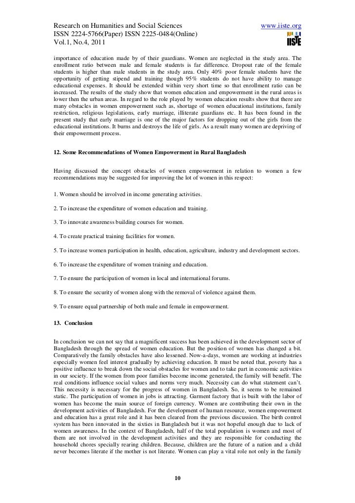 a socio economic study on rural women In conclusion, this study revealed substantial socio-economic inequalities in utilization of health facilities in both rural and urban areas intervention to improve equality of access to health facilities should be designed in view of the factors found in the study.