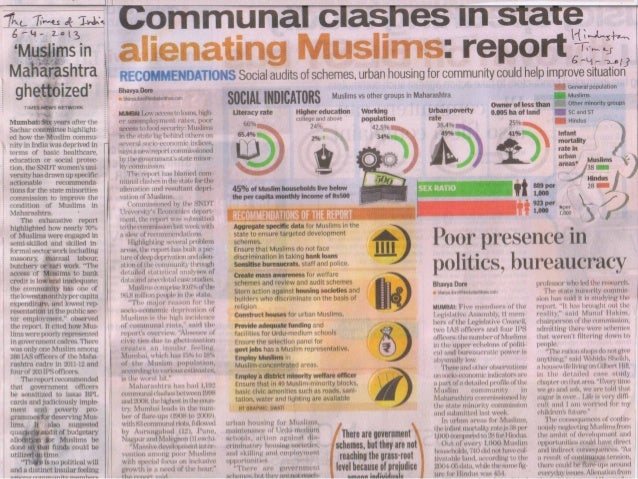 Socio Economic Profile of Muslims in Maharashtra to i & ht 6-4-2013