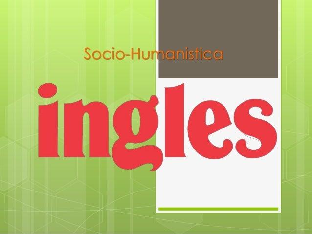 Socio-Humanistica