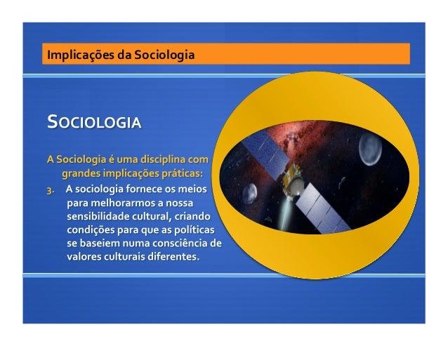 Implicações da Sociologia