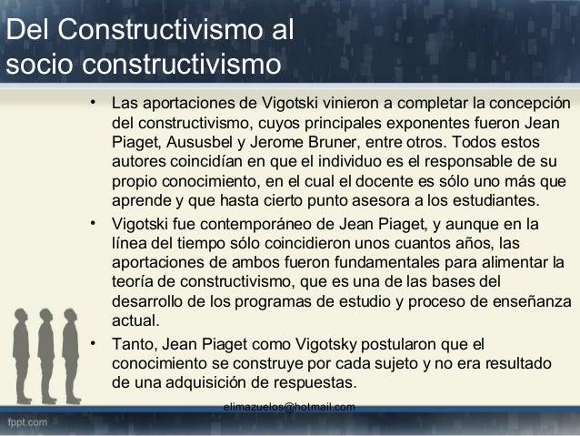Socio constructivismo Slide 2