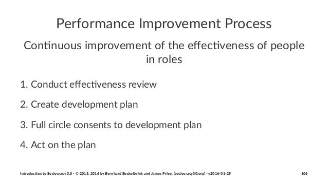 Performance*Improvement*Process Con$nuous'improvement'of'the'effec$veness'of'people' in'roles 1. Conduct*effec-veness*review...