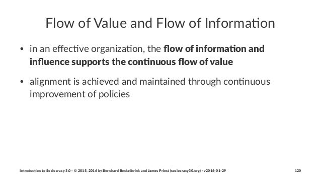 Flow%of%Value%and%Flow%of%Informa0on • in$an$effec)ve$organiza)on,$the$flow$of$informa+on$and$ influence$supports$the$con+nuo...