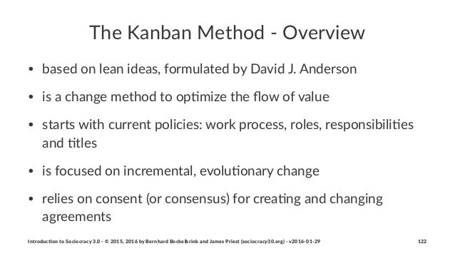 The$Kanban$Method$-$Overview • based'on'lean'ideas,'formulated'by'David'J.'Anderson' • is'a'change'method'to'op<mize'the'fl...