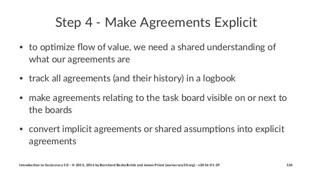 Step%4%'%Make%Agreements%Explicit • to$op&mize$flow$of$value,$we$need$a$shared$understanding$of$ what$our$agreements$are • ...