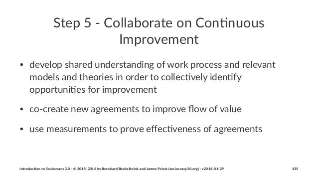 Step%5%'%Collaborate%on%Con/nuous% Improvement • develop(shared(understanding(of(work(process(and(relevant( models(and(the...