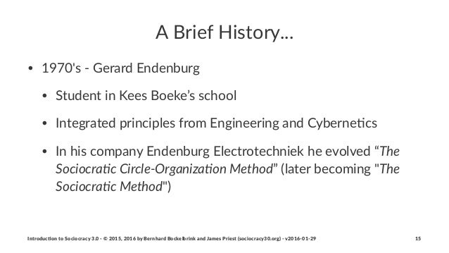 """A""""Brief""""History... • 1970's()(Gerard(Endenburg • Student(in(Kees(Boeke's(school • Integrated(principles(from(Engineering(a..."""