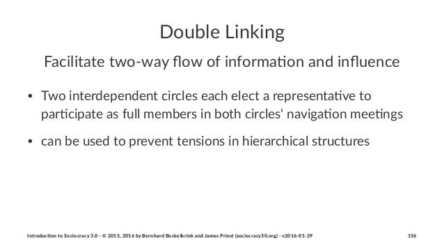 Double'Linking Facilitate(two+way(flow(of(informa2on(and(influence • Two%interdependent%circles%each%elect%a%representa2ve%t...