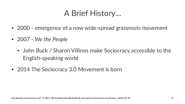 """A""""Brief""""History... • 2000$%$emergence$of$a$now$wide%spread$grassroots$movement$ • 2007$%$We#the#People • John$Buck$/$Sharo..."""